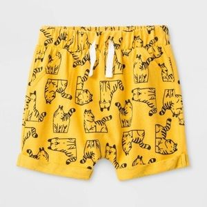 Cat & Jack Golden Yellow Tiger Shorts | 6-9M